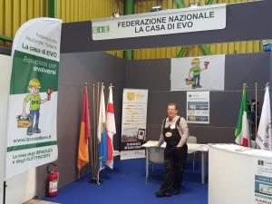 Mario Colasanti allo stand della Casa di EVO al SAIE Bologna 2015