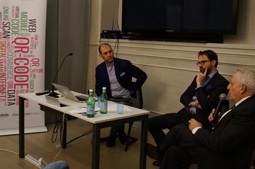 Roberto Liscia, Presidente di Netcomm, Angelo Meregalli, Chief Operating Officer di PayPal Italia ed Enrico Albertelli, Responsabile Marketing Engagement di CartaSi