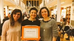 Il team di Work Wide Women premiata da CNA Giovani Imprenditori Bologna