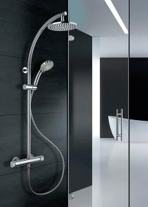 Esempio di doccia con miscelatore termostatico