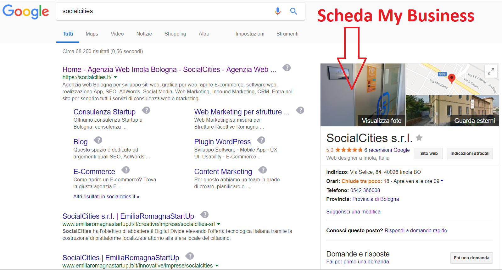 google my business liberi professionisti